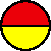 red yellow circle